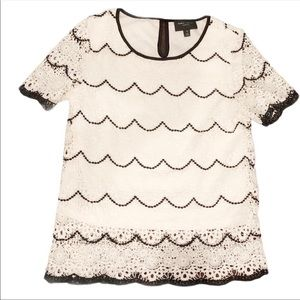 Romeo & Juliet Couture White Lace Shirt white top